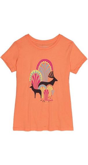 Patagonia Girls Huemul Friends T-shirt Peach Sherbet